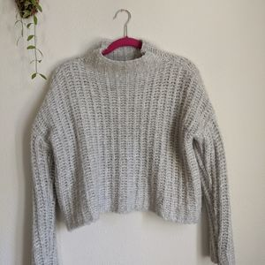Aerie Grey Knit Sweater